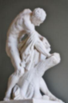 Edmé Dumont, Milon de Crotone (1768), Musée du Louvre