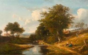 aysage par Jules André (1807-1869)