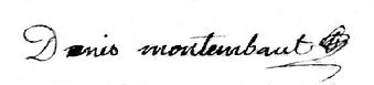 Signature de Denis Montembault, source Archives départementales