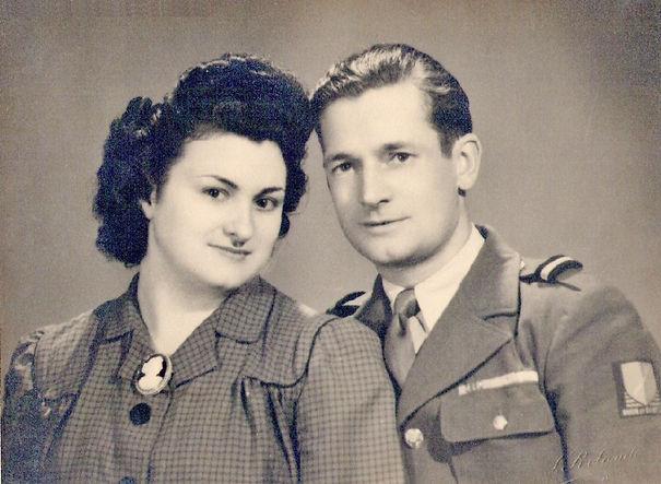 Josiane Vidal et André Devaux (1946), source archives familiales