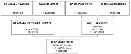 Ascendance paternelle de Suzanne de Salles, source X Gille