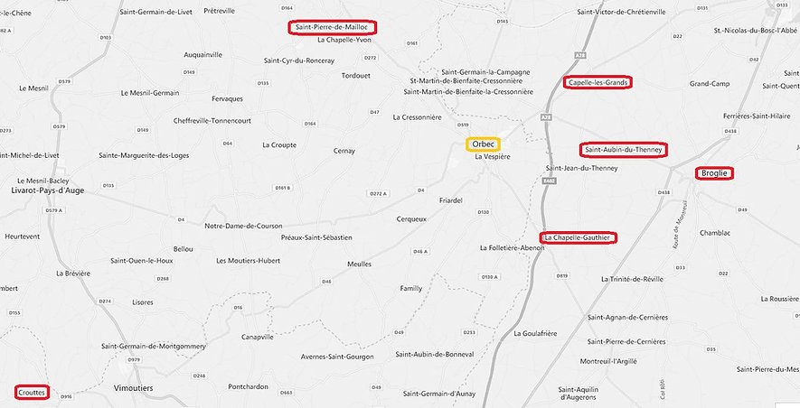 Environs d'Orbec (Calvados), source X Gille