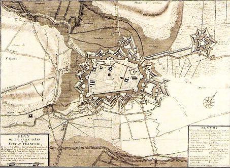 Plan XVIIe d'Aire-sur-la-Lys plan XVIIe, sorce internet
