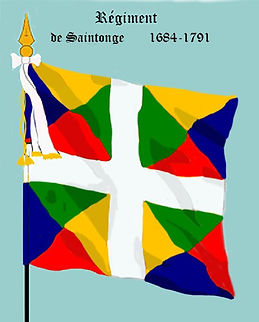 Drapeau d'ordonnance du régiment de Saintonge