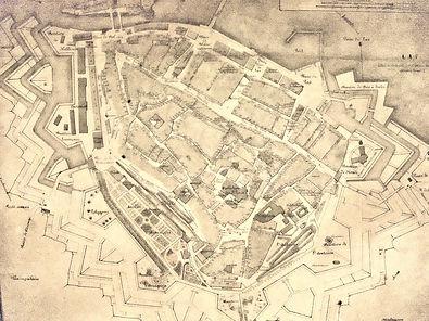 Plan de Genève en 1713, source internet
