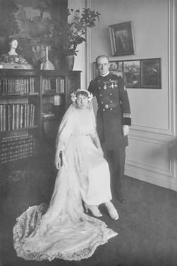 Mariage de Paul Gille avec Germaine Duréault (1918), source archives familiales