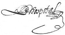 Signature de Mathieu Lhospital, source AD Loire