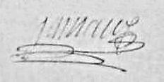 Signature de Marie Jamaux, source Archives départementales