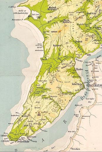 Carte de la presqu'île de Gallipoli
