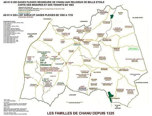 Familles de Chanu depuis 1325, source Archives départementales
