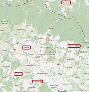 Orignines géographiques de l'ascendance Fiquémont, source X Gille