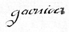 Signature d'Antoine Garnier, source AD Loire