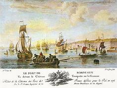 Bordeaux en 1764, source internet