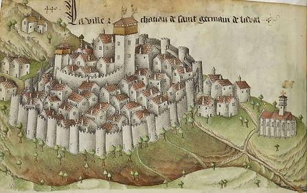 Saint-Germain-Laval, Armorial d'Auvergne de Guillaume Revel, source Gallica