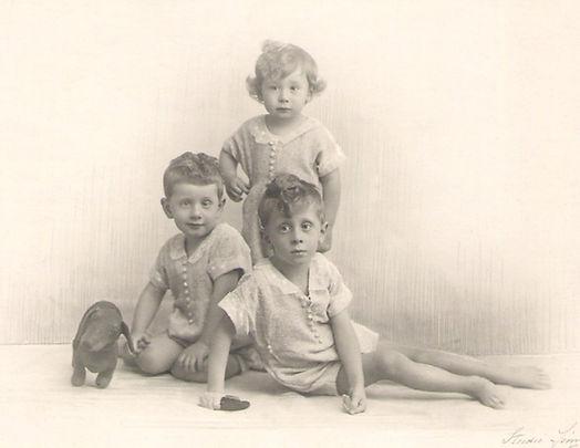 Les trois frères Gille (1922), source archives familiales