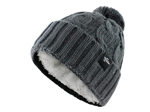 Fear0 NJ Women Plush Insulated Cuff Knit Pom Pom Beanie Hat