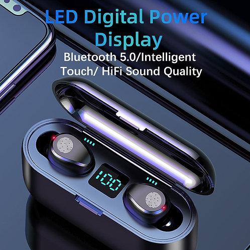 F9 Wireless Bluetooth 5.0 Earphone TWS HIFI Mini In-Ear Sports Running Headset