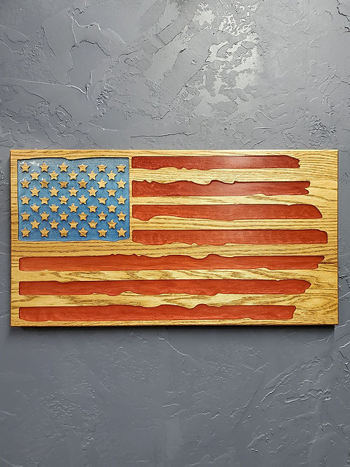 American Flag - Resin Inlay - 3 sizes