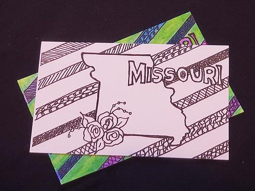 Color-Me Postcard - Missouri