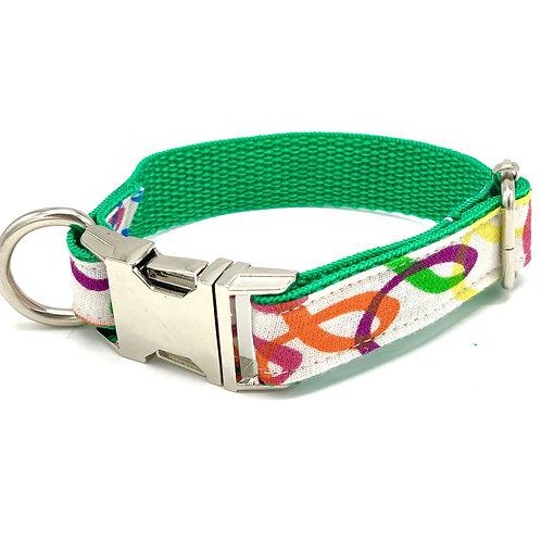 Rainbow Green Dog Collar
