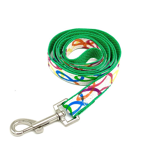 Rainbow Green Dog Leash