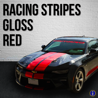 Gloss Red Racing Stripes