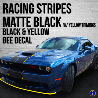 Racing Stripes Matte Black