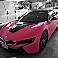 Gloss Hot Pink 3M i8 Roadster