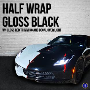Half Wrap Gloss Black