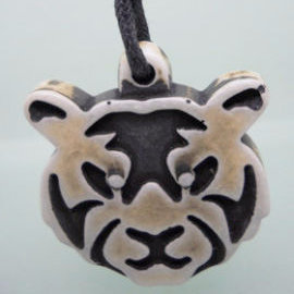 Carved Tiger Face Necklace
