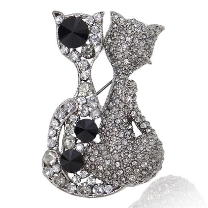 2 Crystalled Cats, 3 Large Glass Pieces