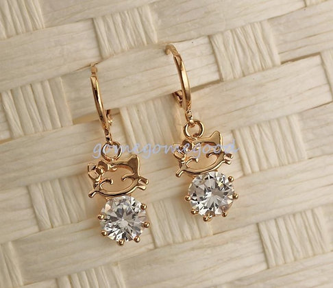 18K Rose Gold & CZ Earrings