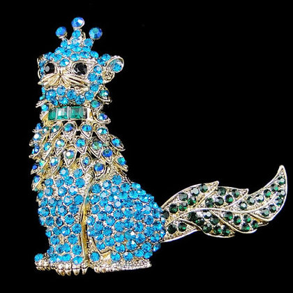 Crowned Cat Brooch