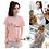 Thumbnail: 4 Cat Poses T-Shirt - Pink