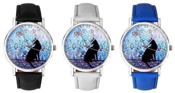 Black Cat & Butterfly Wristwatch