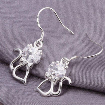 Sterling Silver & CZ Earrings