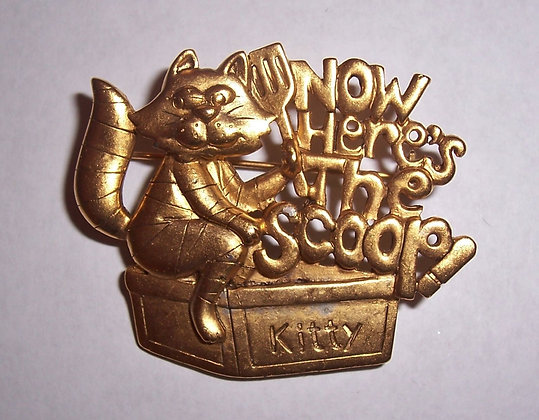 """Now Here's the Scoop"" Brooch"