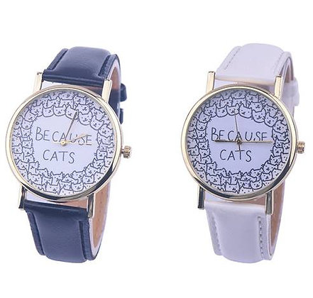 """Because Cats"" Wristwatch"