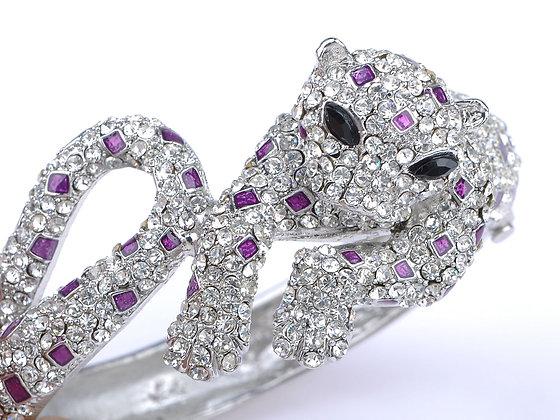 Crystalled Leopard Bracelet