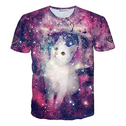 Galaxy Cat Poly T-Shirt