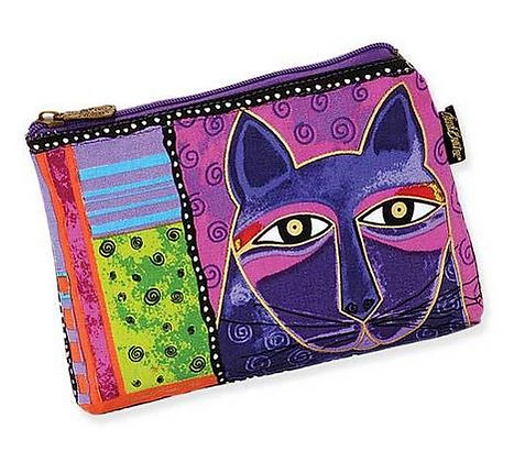 """""""Whiskered Cat"""" Cosmetic Bag - Purple"""
