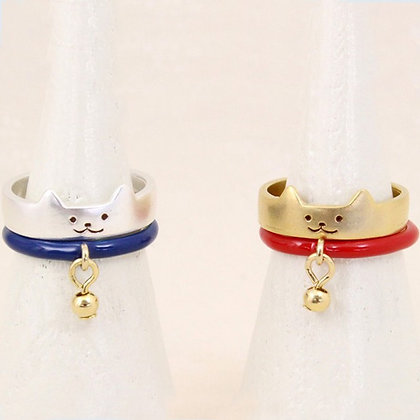 2 Piece Lucky Cat Rings
