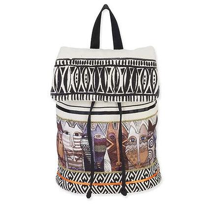 """""""Native Felines"""" Backpack Bag"""