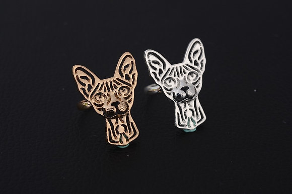 Sphynx Face Cut-Out Ring