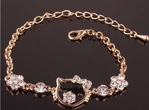 14K GP Crystal Bracelet