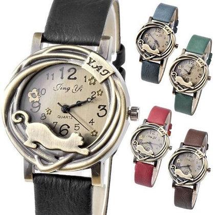 Brass Cat Watch
