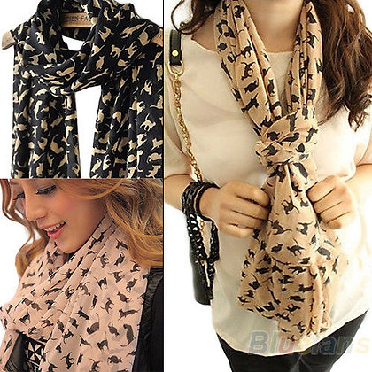 Chiffon Aby Cat Scarf