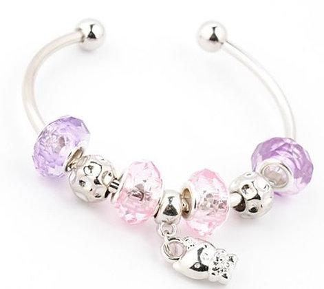 Bead Bangle with Hello Kitty Charm