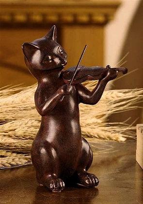 Cat & Fiddle Figurine