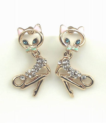 Betsey Johnson Sexy Cat Earrings